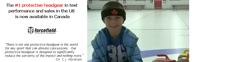 Junior Curlers wear protective sweatbands